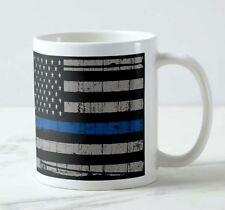 New Thin Blue Line Law Inforcement Police lives Matter US Flag Tea Coffee Mug