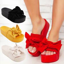 Scarpe donna zatteroni flatform fiocco ciabatte sandali zeppa TOOCOOL L-21