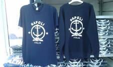 t-shirt o felpa barca marina militare napoli blu ANCORA mare qualita' ITALIA