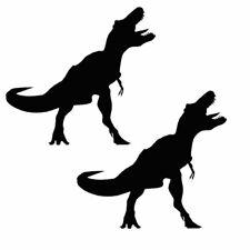 2 X Adesivo Dinosauro 10cm - 1m Finestra Auto Adesivi Da Parete Decalcomania Pack no.4 Nero