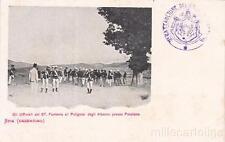 * MILITARE - Stia Casentino - Ufficiali 67° Fanteria al Poligono degli Alberini