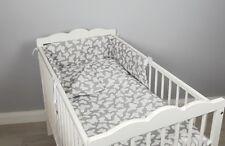 COT BED BEDDING SET 2 ,3, 4 pcs pc butterflies COTTON padded bumper pillowcase