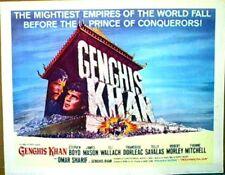 1965 GENGIS KHAN Half-Sheet Movie Poster OMAR SHARIF