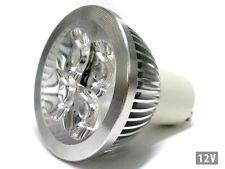 4W GU10 LED lampe DC12V fraîche tension blanc 6000K basse 4 Puissance Led 1W