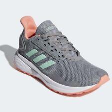 adidas Sneaker Sportschuh DURAMO 9 grau-mintgrün Gr. 33 - 38,5 / UK 1 - 5,5