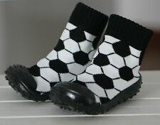 Skidders Baby Boy Pre Walker Sock Shoe Moccasin  Rubber Sole Inside / Outside