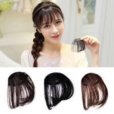 Natural Womens Air Bang Clip in Fake Hair Extensions False Straight Hair Fringe