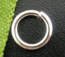 All' ingrosso lotti misti SILVER PLATED apri anelli aperti 7x1mm