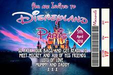 Personnalisé Disney Billet Style Disneyland Paris invite Inc enveloppes A11