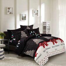 Christmas 3pc Duvet Cover Set: One Duvet Cover & Two Pillowcases, All Sizes