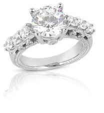2.07 Carat Exclusive Women's Round Cut Diamond Engagement Ring 14k White Gold