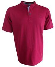 Baileys Rundhals T-Shirt in dunkelrot mit Knopfleiste Gr. L bis XXL