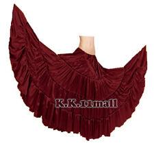 Maroon 25 yd Moondance bellydance costume gypsy skirt tribal pink fuchsia F S4