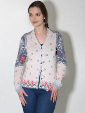 -20% NEU Ivko Strickjacke Gr. 40 42 44 Baumwolle off white ecru jeansblau