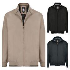 KAM pour hommes grand taille été Blouson Bomber harrington veste imperméable