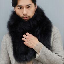 Genuine Men's fur shawl Real Fox fur Knitted scarf Bib Fur Collars Scarves