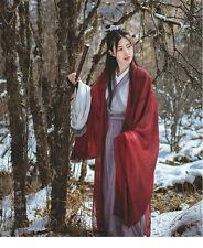 Aesthetic Wine Red Dress Hanfu Chinese Clothing Gauze Coat Cross Collar 4PCS/Set