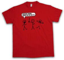 Awesome Sword T-shirt STICK FIGURE tratto maschi FUN COMIC