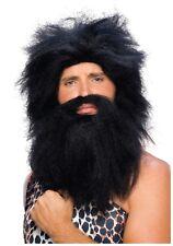 Caveman Beard and Wig Brown / Black Prehistoric Wig and Beard