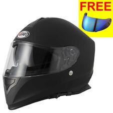 Vcan V127 Full Face Motorbike Motorcycle Helmet Matt Black + Vcan Iridium Visor