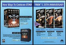 STAR TREK - THE NEXT GENERATION__Original 1991 video Trade AD / promo__STTNG__TV