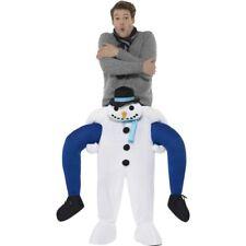 Men's Women's Piggyback Snowman Fancy Dress Costume Christmas Party Dinner Fun