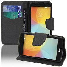 Housse Etui Coque Portefeuille Silicone Effet Tissu LG F60 D390N/ F60 Dual D392