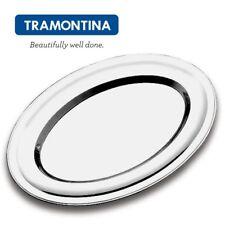Tablett oval Edelstahl 60 x 43 cm Serviertablett Salvinelli 4329PRO