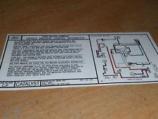 1985 FORD RANGER BRONCO II 2.0 ENGINE EMISSIONS DECAL