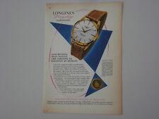 advertising Pubblicità 1959 LONGINES FLAGSHIP OROLOGIO WATCH