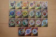Panini Adrenalyn XL FIFA 365 2018 insignia de tarjetas del logotipo del Club y el equipo para averiguar