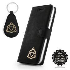 Surazo ® premium maletín de cuero auténtico funda TPU nobuck cartera case-oro triquetra