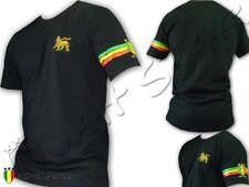 Camiseta T-Shirt Rasta Jah Star Line Manejar Lion Bordado