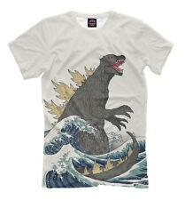 Godzilla t-shirt - Furious Beast wild monster old school white tee