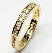GOLD DOUBLE *** Zirkonia Memory-Ring  vergoldet, Größenauswahl