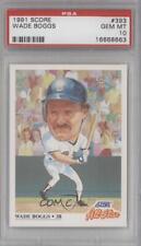 1991 Score #393 Wade Boggs PSA 10 GEM MT Boston Red Sox Baseball Card