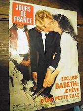 Jours de France n° 1407 Johnny Halliday Babeth :je rêve d'une petite fille