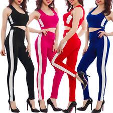 Conjunto de mujer fitness riga top remero pantalones ajustado chándal deporte