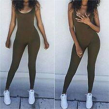 Spandex Cotton Yoga Full Tank Dancewear Jumpsuit . Sizes Small - 3xl Many Colors
