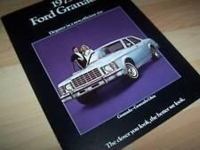 Catalogue / Brochure FORD Granada 1975 USA //