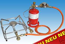 Hockerkocher Campingkocher 2,5 kW Gaskocher mit Kleinstflasche 425 g Gasflasche