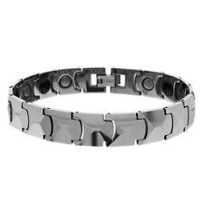 Men Women 12MM Tungsten CarbideFaceted Link Magnetic Bracelet
