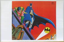 BATMAN & ROBIN on ROOF TOP Pin up Poster w BATSIGNAL