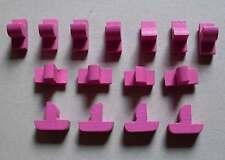 Brettspiele Spielsteine Seefahrer Schiffe aus Holz rosa gelb schwarz grau ...