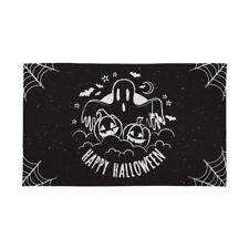 Halloween Bannière noir et blanc fantôme décoration effrayant horreur Drapeau 4