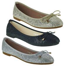 20017 Classica Ballerine da donna scarpe donna tessile paillettes m.fiocco
