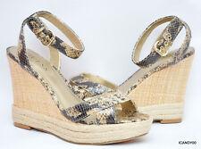New Guess *TRISSA* Espadrille Wedge Sandal Platform Shoe  ~Lt. Brown/Python *8.5