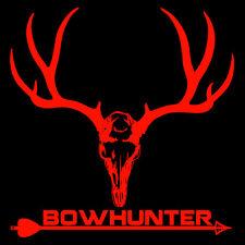 Bow Hunter Decal,Deer skull sticker,mule deer,rack,antlers,deer hunting,bear