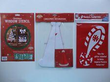 Christmas Window Stencil Pack, 3D Christmas Decoration or Santa's Footprints