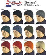 NEU Wollmütze Seemanns Mütze Borkum 100% Schurwolle